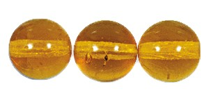 Druk Smooth Round Beads #4150 10mm Topaz (300 Pieces) (LOOSE) - CLEARANCE